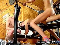 Naked gym trio
