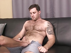 Hot, hairy guy sucked and rimmed