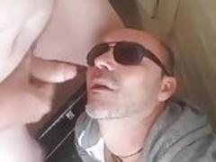 He is cruising in a public wc