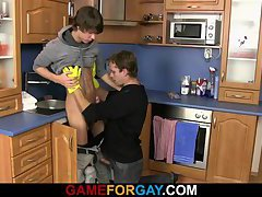 Cute hetero plumber takes it from behind