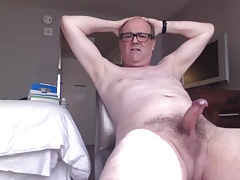 Nude and Stroking my cock