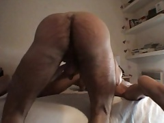 Bareback nice hairy ass and big cock