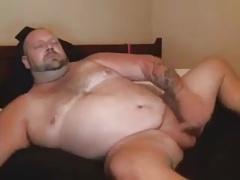 Beefy Bear Masturbation