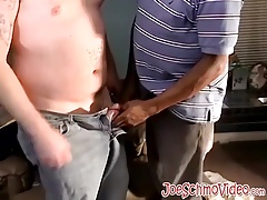 Horny black dude yearns for a giant white cock to swallow