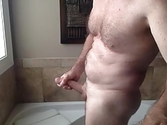 Morning masturbation after the shower