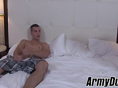 Sexy tattooed soldiers Zack and Princeton fucking session
