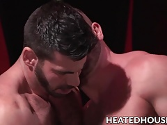 Naughty muscular hunk gets his tight ass slammed rough