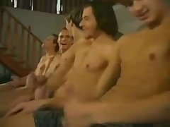 Twink three way blow and cum - BareSexyBoys.com