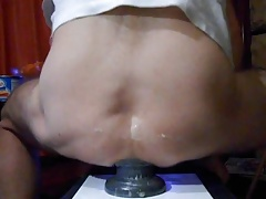 large buttplug stretching my arse lips