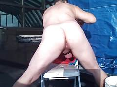 JoeyD outside anal pale butt gaping n winking