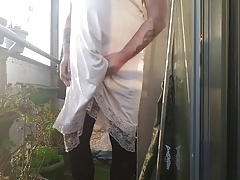 more cumming in slips and tights