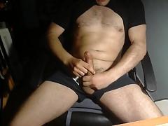 cum on the black shirt