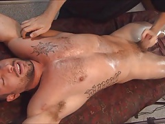 Casey whips out the sex toys for straight boy Izzy
