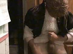 An all wet masturbation of spit and cum fetish