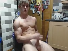 Young bodybuilder shows off