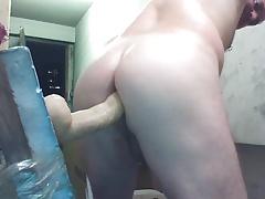 Joey D up close wet curvy butt cum shot