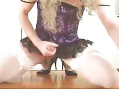 Sissy plays in her panties (2)