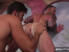 Latin jock flip flop with cumshot