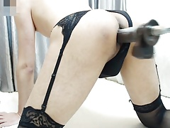 Fucking Machine Hard Japanese Crossdresser Part1