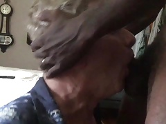 White Trash Fag Sucks Off a HUGE Black Cock!
