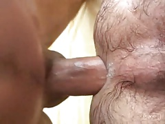 Cum in hairy ass