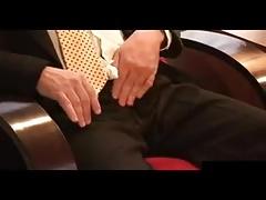 Hot daddy in black socks wanking off after work