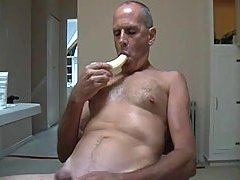 Sexy bananas eating