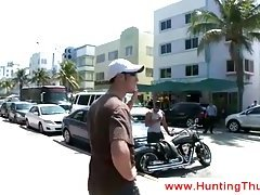Black biker goes home with a white guy