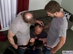 Barber shop gay threesome