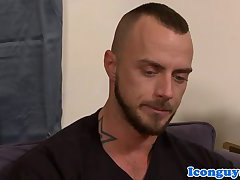 Muscular gaystraight guilty pleasured anally