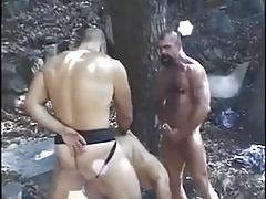 Gangbang in Forest