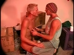 Two gays suck each other's cocks and finger each other's butts