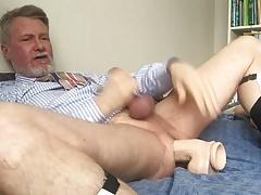 Fucking myself with my new Jeff Stryker dildo