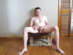 jerking off on a stool