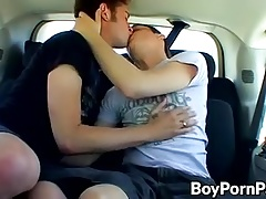 Ayden and Shane ramming in the car
