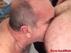Rimmed hairy chub gets anal treatment
