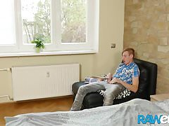 RAWEURO Skinny Blonde Euro Twink Getting His Hole Barebacked