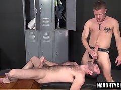 Big dick bottom anal sex with cumshot
