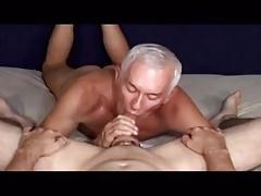 Older men sucking a big cock