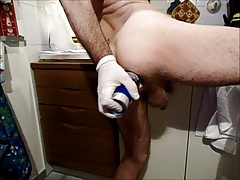 Shaving cream in my ass... Very OPEN!