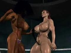 FPZ3d M vs G Catfight toon fistfight girlfight