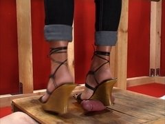Cockbox shoe and footjob