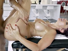 Redhead nurse with an amazing ass gets pounded hard