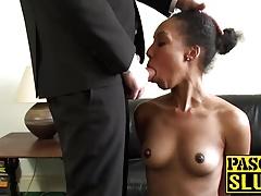 Cute ebony girl Sade Rose rides hard Pascals big hard cock