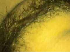 Fucking a hairy vagina closeup that is wet