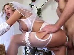 Sticky creampie Bride