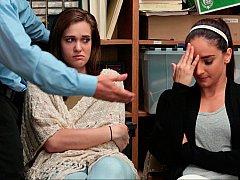 За кулисами, Минет, Две девушки, В офисе, Полиция, Наказание, Украденные видео, Втроем
