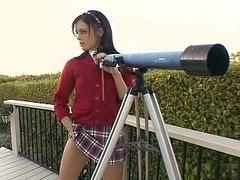 Gorgeous schoolgirl Stephanie