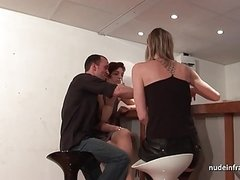 FFM Horny amateur milfs hard anal to mouth and fist fucking