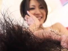 Aziatisch, Harig, Japaans, Masturbatie, Alleen
